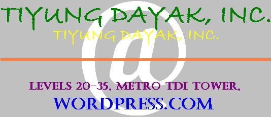 The TIYUNG DAYAK, INC. Corporate Logo...