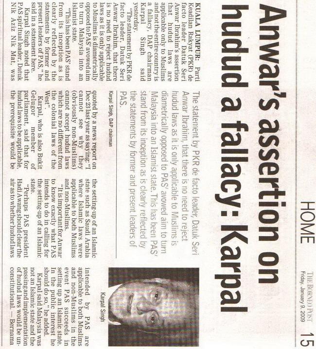Karpal. January 9, 2009 Edition.