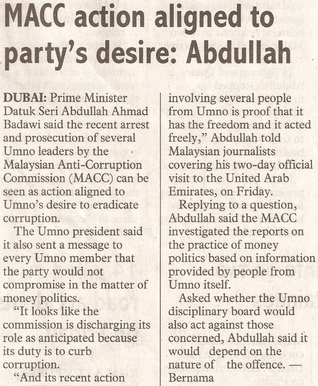 Abdullah. January 25, 2009 Edition.