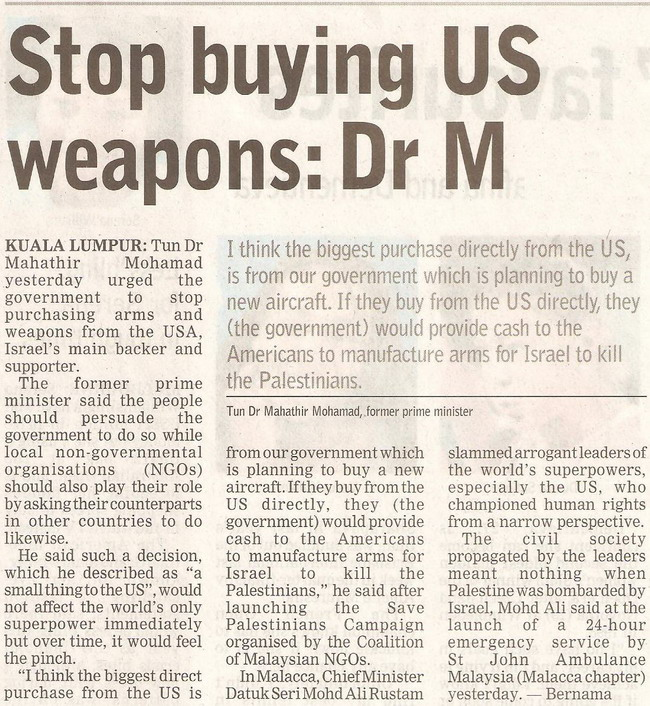 Dr M. January 19, 2009 Edition.