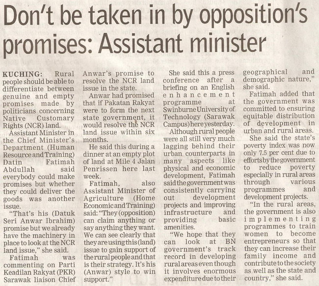 Assistant minister. January 15, 2009 Edition.