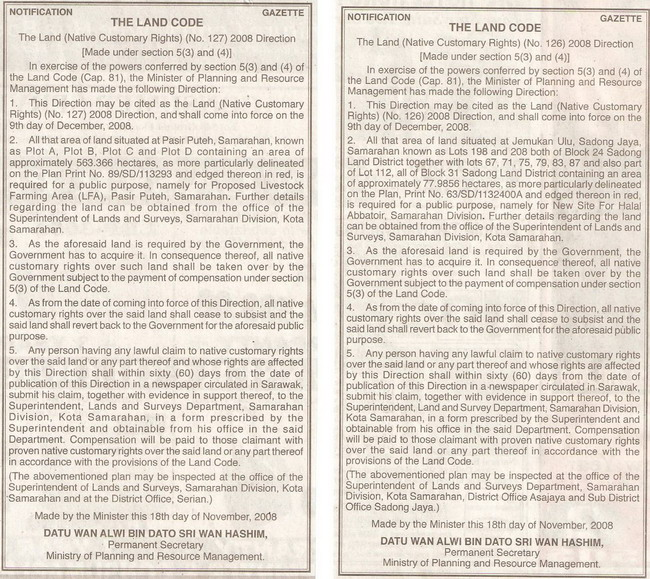 The Land Code. January 23, 2009 Edition.