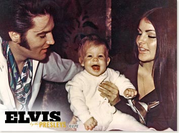 The good old days for the family - Elvis, Priscilla and their baby daughter - Lisa Marie...