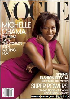 BBC News. 2009. Michelle Obama makes Vogue cover. February 11, 2009 Edition.