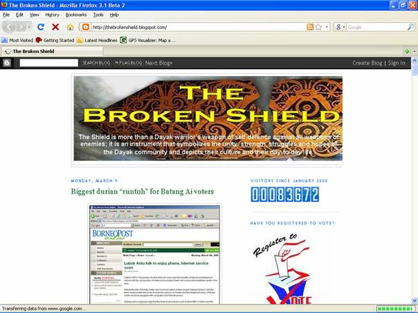 "The article – ""Biggest durian ""runtoh"" for Batang Ai voters"" found in thebrokenshield.blogspot.com. Click on the image for details."