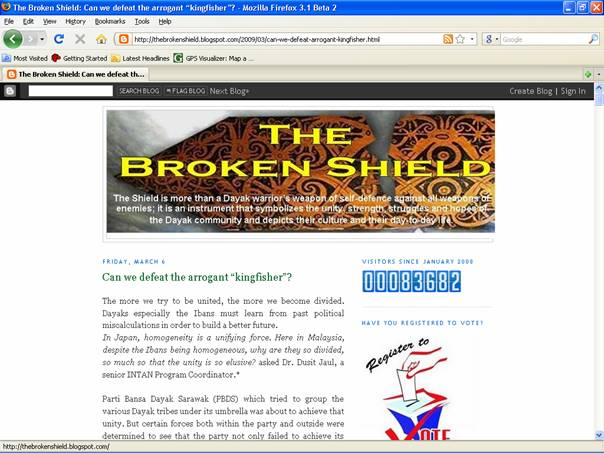 "Another article – ""Can we defeat the arrogant ""kingfisher""? found in thebrokenshield.blogspot.com. Click on the image for details."