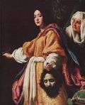 The brainy Judith in gallantry style with the head of Holofernes. Click on the above image for details.