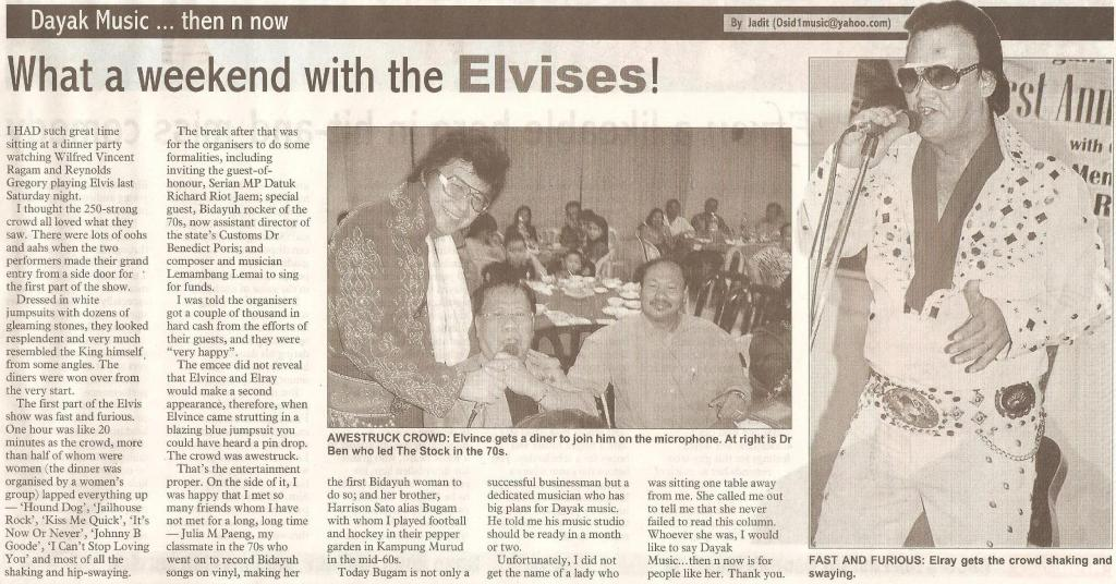 thesundaypost. 2009. What a weekend with the Elvises! April 12, 2009 Edition.