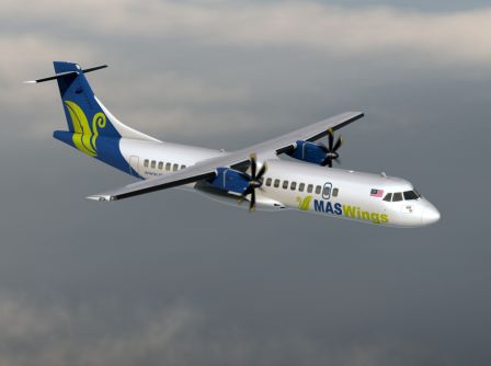 MASwings' ATR 72-500 aircraft...